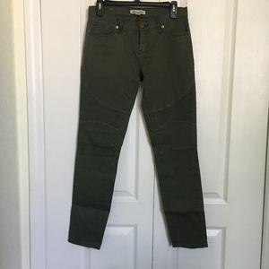 Andrew Charles Dark Green Pants back zippers